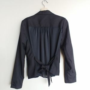 F21 Blazer with Sheer Back and Bow detail